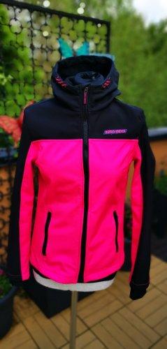Windbreaker Softshell Jacke pink schwarz neu und ungetragen 36 S 176
