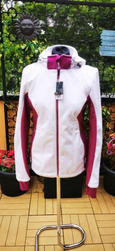 Windbreaker Softshell Jacke weiß pink S neu mit Etikett
