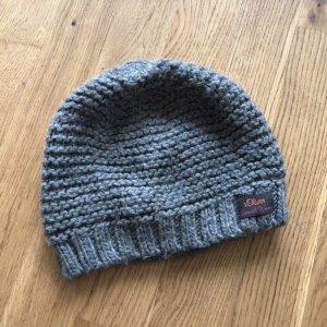 s. Oliver (QS designed) Sombrero de punto gris