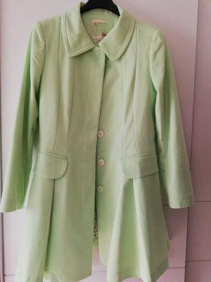100% Fashion Chaqueta larga verde pálido