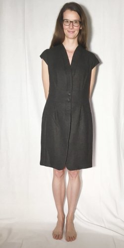 Windsor Woolen Dress anthracite angora wool
