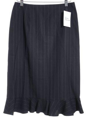 Windsor Bleistiftrock dunkelblau-weiß Nadelstreifen Business-Look