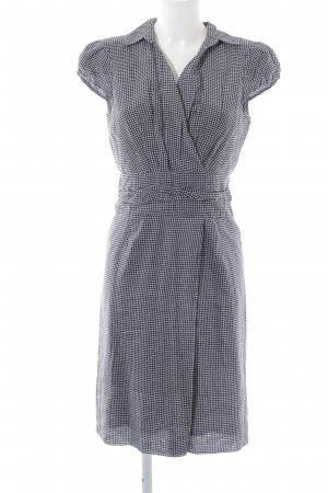 Windsor Robe chemisier noir-blanc motif à carreaux style d'affaires