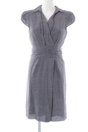 Windsor Blusenkleid schwarz-weiß Karomuster Business-Look