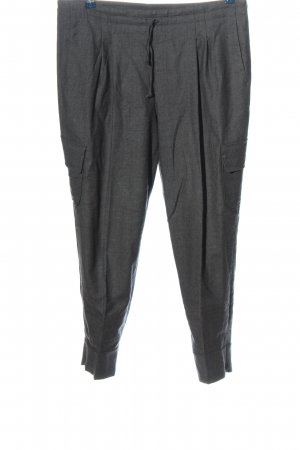 Windsor Bundfaltenhose hellgrau meliert Casual-Look