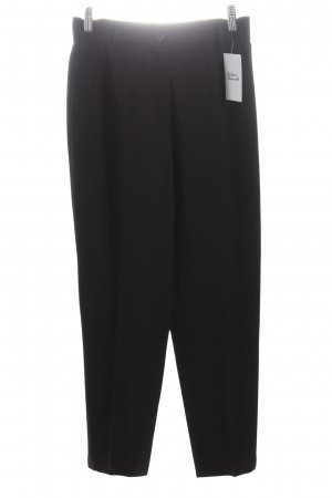 Windsor Bundfaltenhose schwarz Business-Look