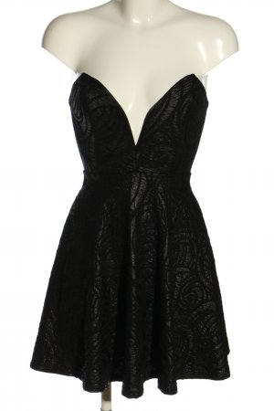 Windsor Bustier Dress black abstract pattern elegant