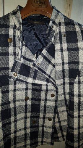 Windsor Caban Jacke blau grau kariert Gr.36