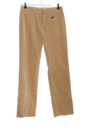 Windsor Pantalon en velours côtelé brun style décontracté