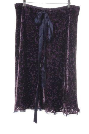 Windsor Faltenrock dunkelviolett-dunkelblau Casual-Look