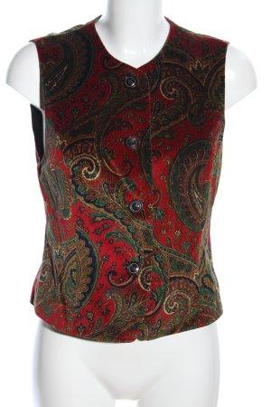Windsor Fleeceweste abstraktes Muster Elegant