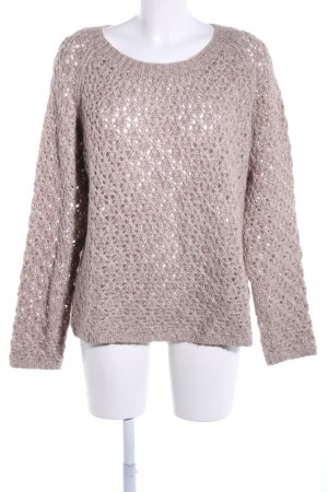 Windsor Grobstrickpullover wollweiß grafisches Muster Casual-Look