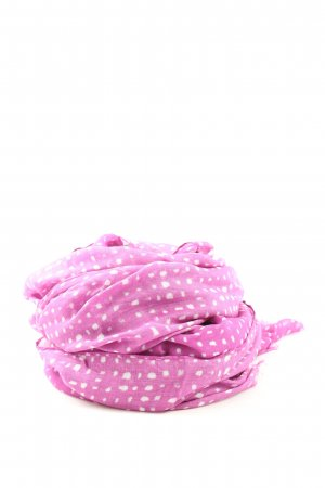 Windsor Apaszka różowy-biały Na całej powierzchni W stylu casual