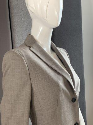 Windsor Garnitur biznesowy szaro-brązowy Wełna