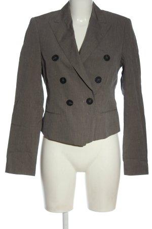 Windsor Korte blazer lichtgrijs gestippeld zakelijke stijl