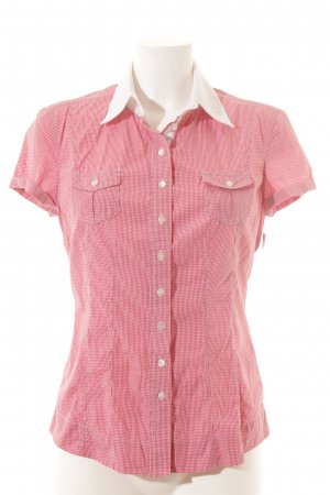 Windsor Kurzarm-Bluse rot-weiß Karomuster Casual-Look