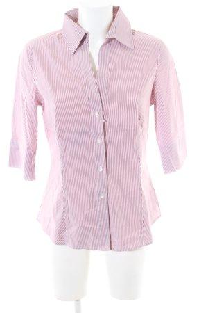 Windsor Kurzarmhemd pink-weiß Streifenmuster Business-Look