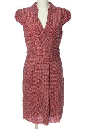 Windsor Kurzarmkleid rot-wollweiß Allover-Druck Casual-Look