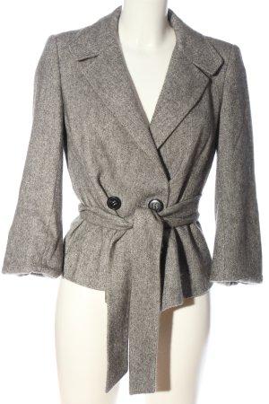 Windsor Cappotto corto grigio chiaro puntinato stile professionale