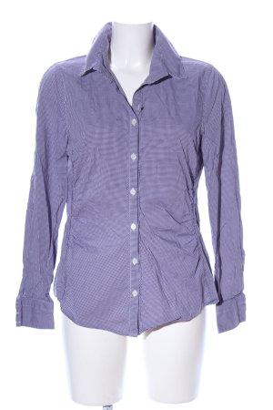 Windsor Langarm-Bluse lila-weiß Allover-Druck Business-Look