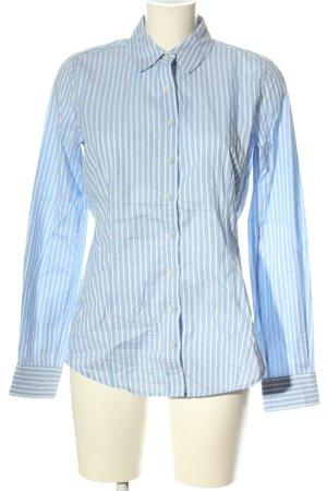 Windsor Langarmhemd blau-weiß Streifenmuster Business-Look