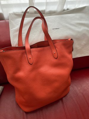 Windsor Pouch Bag neon orange leather