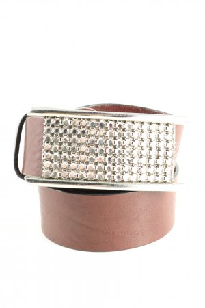 Windsor Leather Belt brown-silver-colored casual look