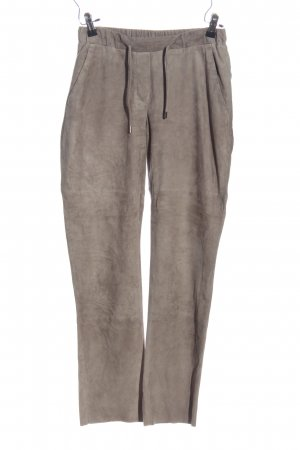 Windsor Leather Trousers light grey casual look