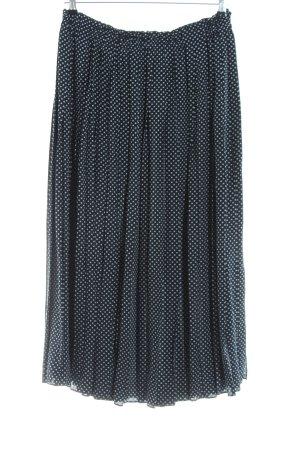 Windsor Falda larga negro-blanco estampado repetido sobre toda la superficie