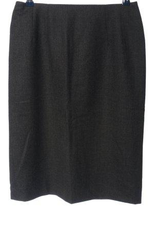 Windsor Spódnica midi czarny Melanżowy W stylu biznesowym