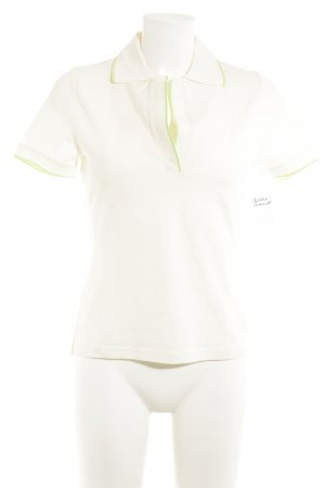 Windsor Polo Top cream-pale green casual look