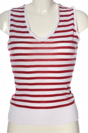 Windsor Ringelshirt rot-weiß Streifenmuster Casual-Look