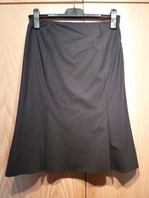 Windsor Jupe évasée noir-gris anthracite tissu mixte