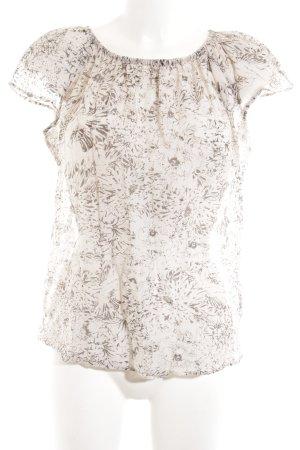Windsor Rüschen-Bluse creme Allover-Druck Casual-Look