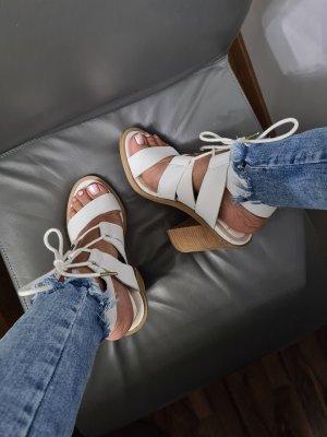 Windsor Smith Designer Leder Stiefelette weiß
