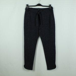 Windsor Pantalon en laine bleu foncé-noir