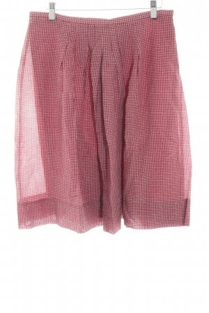 Windsor Circle Skirt red-white check pattern casual look