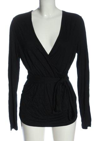 Windsor Wraparound Shirt black casual look