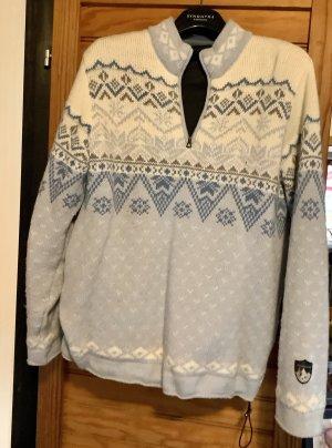 Maglione norvegese azzurro-bianco