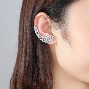 Pessina-Jewelry Złote kolczyki biały-srebrny