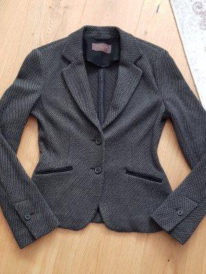 S.Oliver Premium Blazer en tweed noir-gris foncé