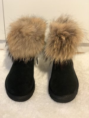 Fur Boots black-grey brown