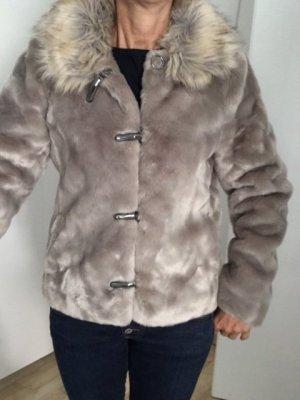 Winter Felljacke Gr. 36 baun beige Übergangsjacke Jacke