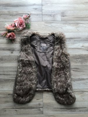 Cecil Fur vest multicolored