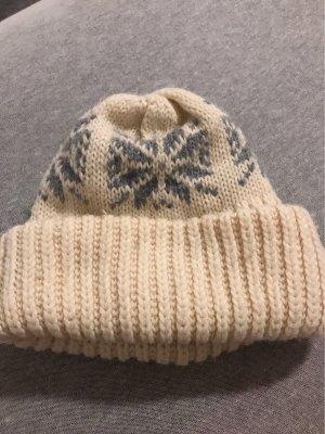 Wollen hoed wolwit-grijs