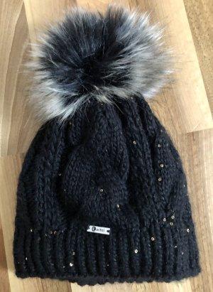 Winter Haube mit Fellbommel (fake fur)