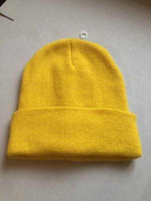 keine Cappello di lana giallo neon