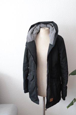 My Haily's Abrigo con capucha negro tejido mezclado