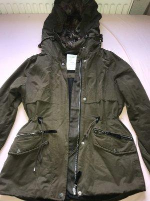 Bershka Winter Jacket green grey