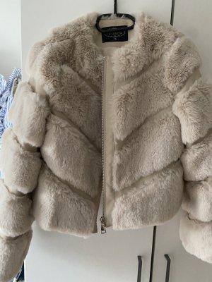 Flam mode Fur Jacket beige